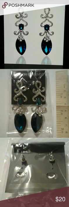 Hollow Crystal Water Drop Earrings Hollow Crystal Water Drop 18K Silver Plated Austrian Crystal Lady Drop Earrings Jewelry Earrings
