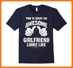 This Is What An Awesome Girlfriend Looks Like Funny T-Shirt Herren, Größe 3XL Navy (*Partner Link)
