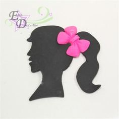 girl sillouette cutter , two sizes, small and large for cupcakes anc cakes