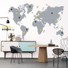 World Trip. My vinilo. vinilos decorativos. decoración de pared. papel tapiz. Decohunter. Fun and graphics. Encuentra donde comprar este producto en Colombia