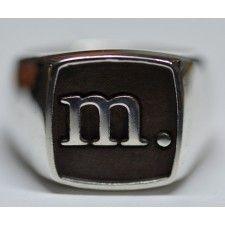 Men's Monogram Signet Ring (You Pick Letter)