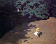 Felix Vallotton - The Ball (Corner of the Park, Child Playing With Ball) Art Print. Explore our collection of Felix Vallotton fine art prints, giclees, posters and hand crafted canvas products Edouard Vuillard, Manet, Pierre Bonnard, Painting Prints, Canvas Prints, Art Prints, Canvas Artwork, Marlene Dumas, Google Art Project