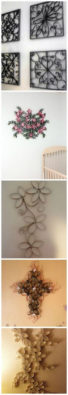 DIY Project- Toilet Paper Roll Wall Art Toilet Paper Roll Art, Paper Wall Art, Toilet Paper Roll Crafts, Diy Wall Art, Diy Paper, Paper Towel Roll Crafts, Diy Art Projects, Cardboard Crafts, Cardboard Tubes