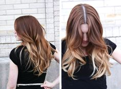 LOve This ombre hair highlight