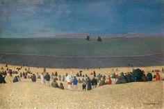 Félix Vallotton (Swiss, 1865-1925), La plage à Honfleur, 1919. Oil on canvas, 54 x 81 cm.