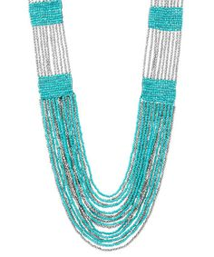 Take a look at this Aqua & Silver Boho In SoHo Necklace by Soho Hearts on #zulily today!