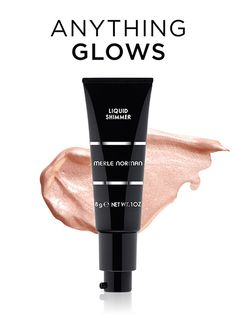 You will use Liquid Shimmer several ways for your creamy look. Apply with fingertips on cheekbones next to bare skin. Also apply after foundation on forehead, chin, bridge of nose, top of cheekbones again, and cupid's bow with the Face #7 Brush. You can also mix it with your favorite Liquid Blush color on apples of cheeks!