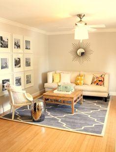 blue trellis rug $397