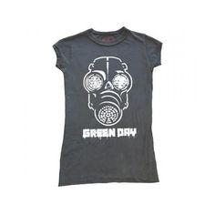 Green Day Shirt buy me? ❤ liked on Polyvore featuring tops, t-shirts, band tees, shirts, t shirt, green t shirt, green shirt, green tee, green top and t shirts