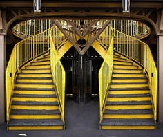 yellow staircase (josef.stuefer) Tags: urban paris france tower yellow stairs…