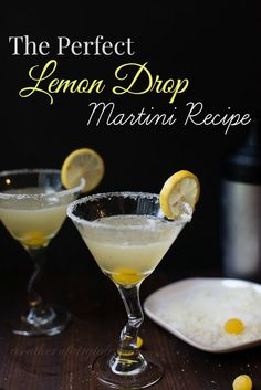a little sweet, a little tart, a whole lot of delicious.  The best lemon drop martini recipe ever!  #martini #drinks #lemon #recipe