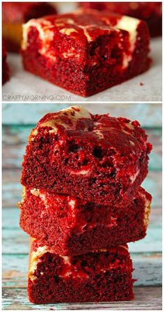 Red Velvet Cheesecake Brownie Recipe. more here