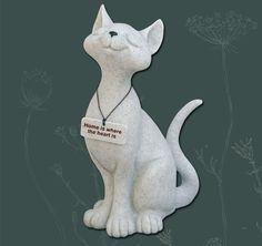 Fountasia Cat Sculpture