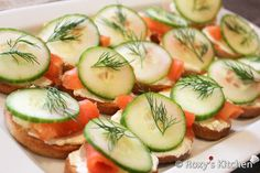 Smoked Salmon & Cucumber Appetizer
