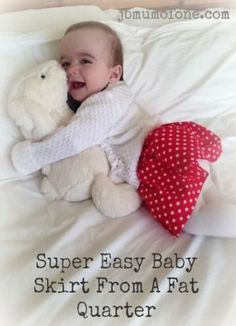 A super easy baby skirt tutorial made from one fat quarter of material. Granny Square Pattern Free, Baby Love Quotes, Baby Announcement Pictures, Baby Skirt, Baby Dress, Crochet Baby Cardigan, Baby Fat, Kids Pillows, Sewing For Kids