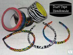 Duct Tape Headbands tutorial. Gives headbands a whole new look! http://mamato5blessings.com/2014/02/diy-duct-tape-headbands-super-easy-to-make/