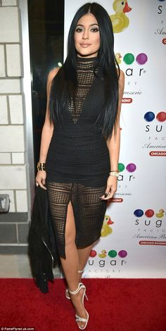 She sure loves beauty treatments: Kylie Jenner, pictured in January, shared a photo of her...