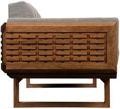 :: NOIR :: Club Style, Dark Walnut, Grey Fabric, Upholstery, Cushions, The Originals, Storage, Table, Furniture