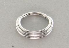 White Gold Mini Moody Segment Ring by BVLA
