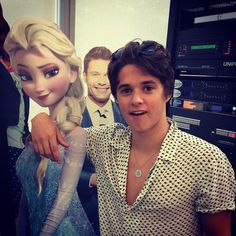 In Charlotte 25 July 2015. Brad found his perfect woman and look who's photobombing.