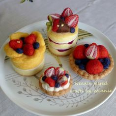 Custom order needle felted cakes & tarts https://www.etsy.com/shop/FunFeltByWinnie