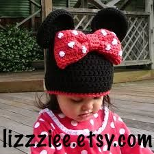 crochet mickey mouse hat adult - Google-Suche