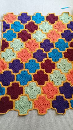 Ravelry: Project Gallery for Moroccan Lattice Afghan pattern by Julie Yeager