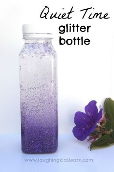 Calming glitter bottle for moments when children need some 'quiet time'.