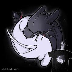 Dragon Tao | Shirtoid #dragon #film #howtotrainyourdragon #lightfury #movies #nightfury #toothless #xmorfina #xmorphina #yinyang