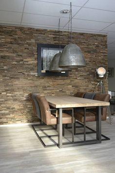 Rooms Ideas, Slab Table, Indoor Outdoor Furniture, Apartment Renovation, Steel Furniture, Basement Remodeling, Interiores Design, Interior Design Living Room, Interior And Exterior