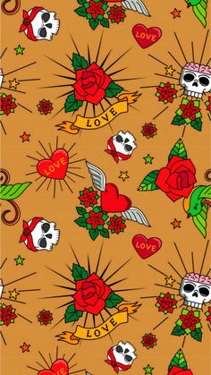 Badass Wallpaper Iphone, Skull Wallpaper, Iphone Wallpapers, Wallpaper Backgrounds, Textiles, Skulls, Girly, Slippers, Comics