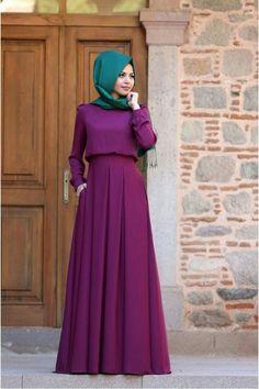 60 Looks de Hijab avec robe longue chic et simple pour vous inspirer - astuces h. İslami Erkek Modası 2020 - Tesettür Modelleri ve Modası 2019 ve 2020 Abaya Fashion, Modest Fashion, Fashion Dresses, Abaya Mode, Mode Hijab, Hijab Stile, Hijab Style Dress, Muslim Women Fashion, Muslim Dress