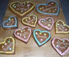 Rezept Variation von Lebkuchenherzen (als Geschenkidee) von evamistina - Rezept der Kategorie Backen süß