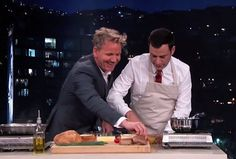 Watch Jimmy Kimmel Annoy Chef Gordon Ramsay by Being Too Slow