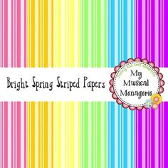 Bright Spring Striped Digital Papers {FREEBIE}