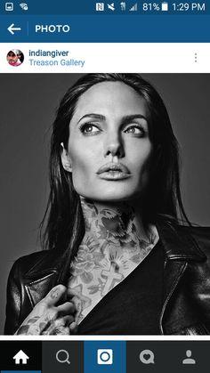 Artist Continues To Reimagine Celebrities Covered In Tattoos - Artist reimagines celebrities covered in tattoos