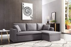 Luxury L shape Storage Sofa Bed
