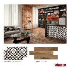 Sala integrada com cozinha Eliane Revestimentos #revestimento #piso #azulejo #porcelanato #tile