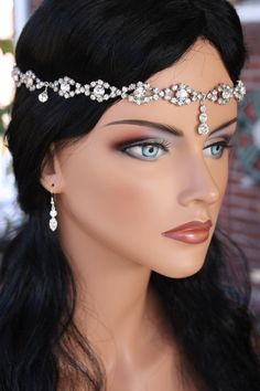 Gorgeous Bridal Head Circlet/ Head Piece by LalleBridalJewelry, $79.00