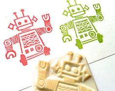 chubby cat hand carved rubber stamp. animal stamp. por talktothesun