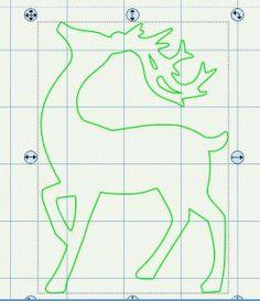 Reindeer template: