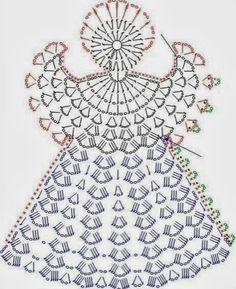 Die 18 Besten Bilder Von Engel Crochet Angels Christmas Ornaments