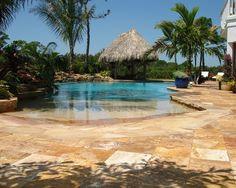 Beach entry pool