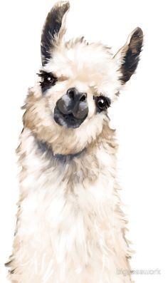 Cute drawings, animal drawings, watercolor animals, watercolor paintings, a Alpacas, Animal Paintings, Animal Drawings, Art Drawings, Face Paintings, Watercolor Animals, Watercolor Paintings, Body Painting, Lama Animal