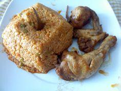 Cozinhar por amor: Frango guisado com arroz de ervilhas na Bimby