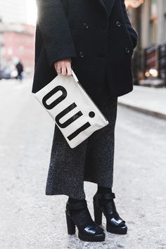 New_york_Fashion_Week-NYFW-Knitted_Trousers-Culottes-Bandana_Scarf-Sita_Murt_Coat-Michael_Kors_Fall_15-Clare_Vivier-Street_Style-Collage_VIntage-7