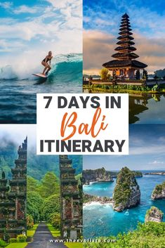 Only have one week in Bali? The Ultimate 7 Day Bali Itinerary with the best beaches, waterfalls, temples, restaurants, hotels and unique things to do. Cool Places To Visit, Places To Travel, Travel Destinations, Bali Travel Guide, Asia Travel, Travel Tips, Travel Guides, Bali Weather, By Train