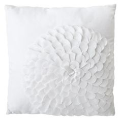 Xhilaration® Flower Decorative Pillow - White.Opens in a new window