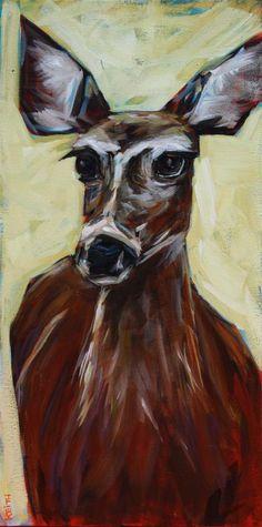 Oh Deer original fine art by Kandice Keith