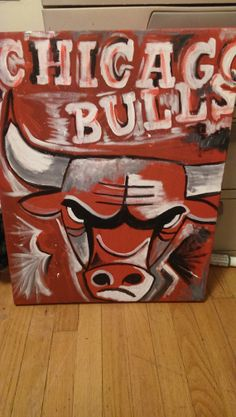 Chicago Bulls Pride- Hand painted canvas